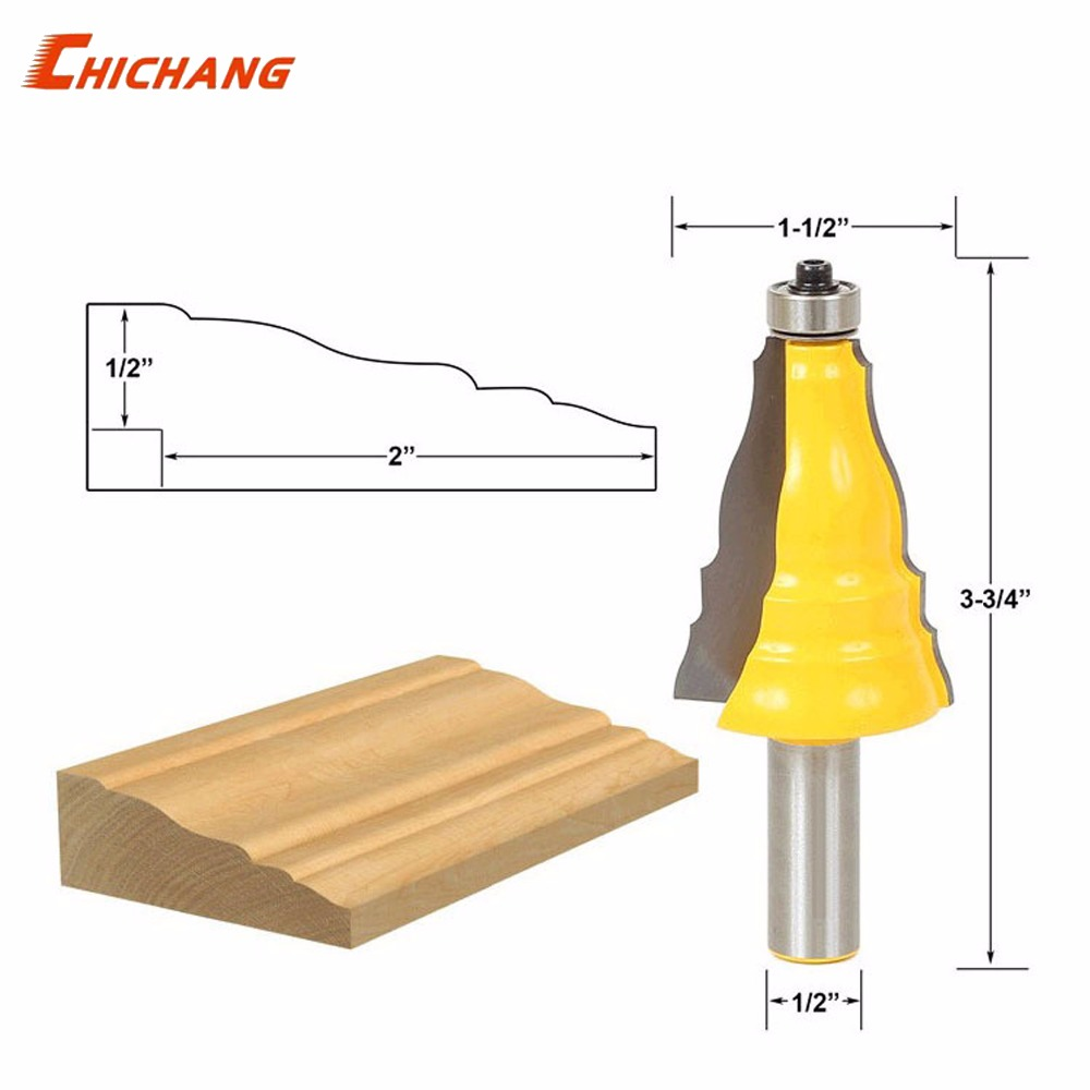 Door & Window Casing Router Bit - 1/2 Shank - Line knife Woodworking cutter Tenon Cutter for Woodworking Tool 1 2 door nail cutter knife household west tenon joints fit together stitching carpentry knife blade 3pcs et