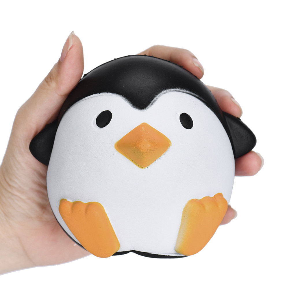 11CM Anti Stress Ball Squeeze Toy Kawaii Jumbo Squishy Toys Slow Rising Animals Penguin Stress Relief Toys for Kids Stretchy Toy