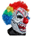 X-MERRY Sinister Evil Killer Clown Latex Mask For Halloween Cosplay Party Costume