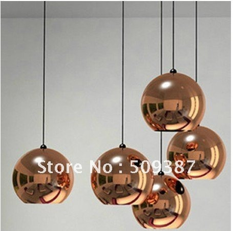 hot sell Gold Tom Dixon Copper Shade Pendant Lamp one piece Diameter 40CM Energy Saving Ceiling Light + free shipping