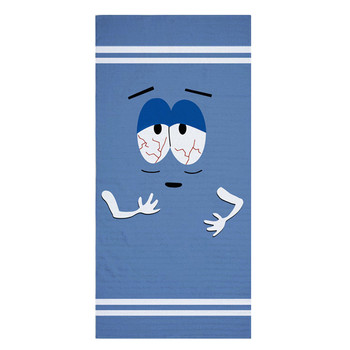 Funny Towelie Big Lounger ręcznik plażowy nowość torba podróżna ręczniki zestaw dla dorosłych duży lekki Sport ręcznik do twarzy Gym Men 140X70 tanie i dobre opinie Bath Towel anime 0 3KG Cartoon Polyester Cotton Quick-Dry Woven Square Plain Dyed 26 s-30 s 75X35cm or 140X70cm