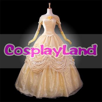 Beauty and the Beast Costume Belle Princess Dress Adult Women Cosplay Costume Ball Gown Halloween Party Princess Bell Dress fancy girl princess dress cosplay beauty and the best costume kids halloween birthday party dress belle aurora cinderella dress