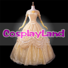 Beauty and the Beast Costume Belle Princess Dress Adult Women Cosplay Costume Ball Gown Halloween Party Princess Bell Dress