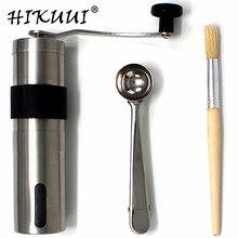 HIKUUI 1 Takım Manuel kahve değirmeni + Hairbrush + kaşık Ölçme, mutfak Araçları Set Mini Taşınabilir Yıkanabilir Manuel Kahve D...