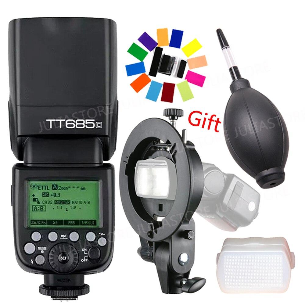 Godox TT685 TT685C 2.4g Sans Fil HSS 1/8000 S TTL Caméra Flash Speedlite + Bowens S-Type support pour Canon DSLR Caméras