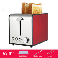 Stainless steel Bread Toaster 2 slices toast oven household automatic multi function bread maker defrost breakfast machine