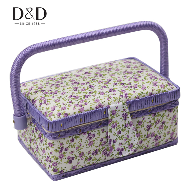 New 6 Designs Flower Pattern Cotton Fabric Jewelry Box Storage Case