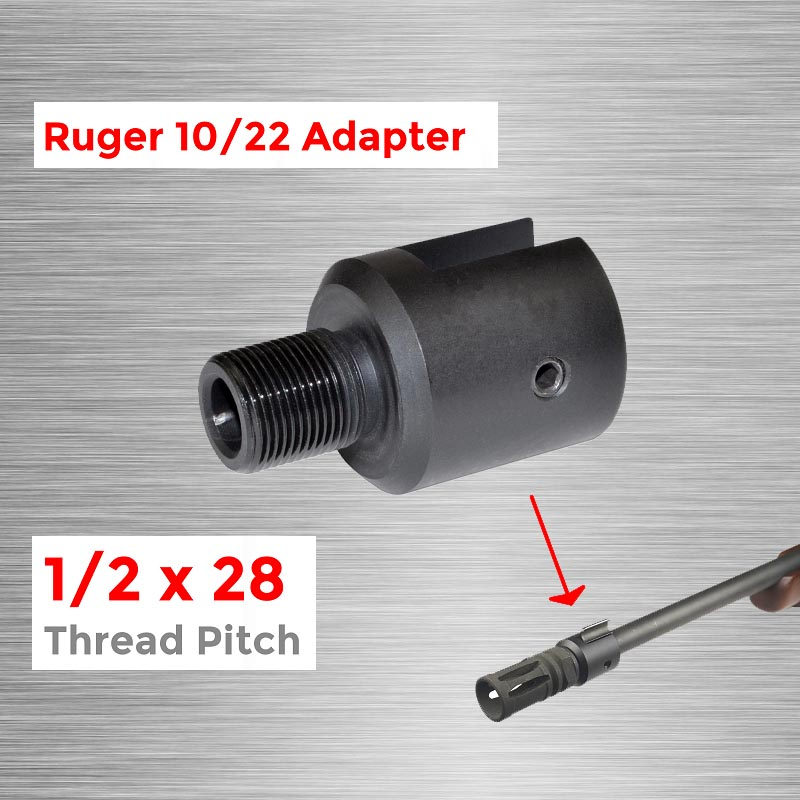Threaded-Adapter Barrel Muzzle Ruger 1/2x28 Alloy-Steel for CNC Adapter1/2-28