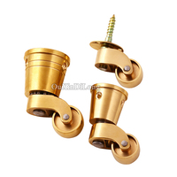 High Quality 4PCS LOT Brass Heavy Duty Universal Furniture Casters European Table Chair Smoothly Mute Wheels
