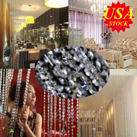 10M Interior Decor Chandelier Crystals Lamp Prisms Acrylic Octagonal Beads Garland Chandelier Hanging Curtain