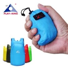 Playking Легкий нейлоновый рюкзак, складной водонепроницаемый рюкзак складной мешок Сверхлегкий Открытый обновления для женщин мужчин Путешествия Туризм