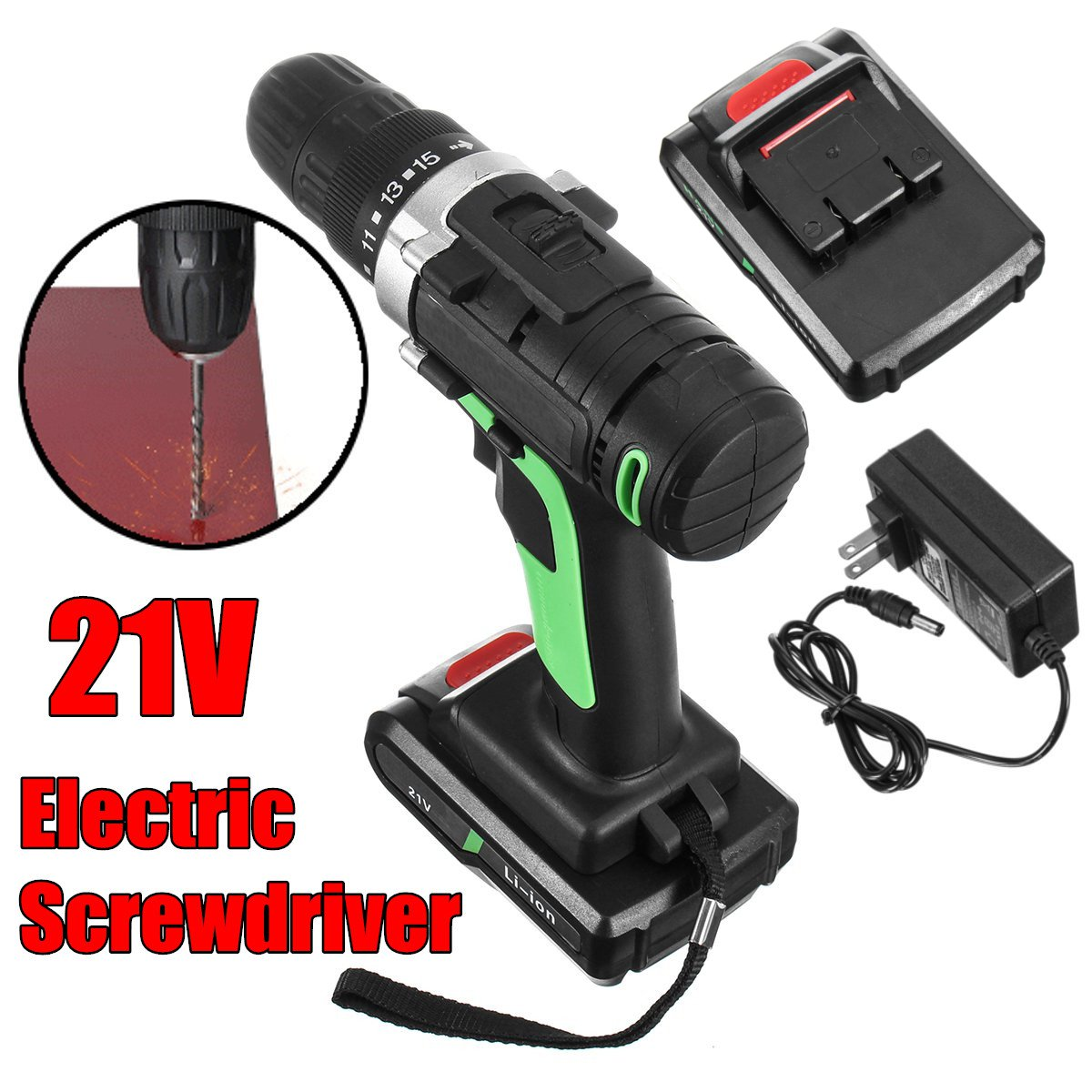 21V additional lithium-ion Battery Cordless Electric hand Drill driver Wrench hole electrical Drill power tools tenwa 21v 4000mah electric impact wrench home repair power tool lithium battery cordless wrench 280n m brush brushless drill