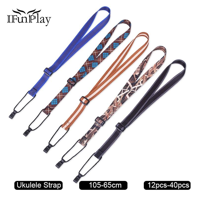 12pcs multi color adjustable ukulele strap nylon sling with hook for ukulele uk guitarra belt. Black Bedroom Furniture Sets. Home Design Ideas