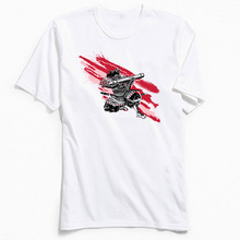 Custom Men Tops & Tees Samurai Power Crew Neck TShirt Ostern Day T Shirt Short Sleeve Brand New 100% Cotton T-shirts White