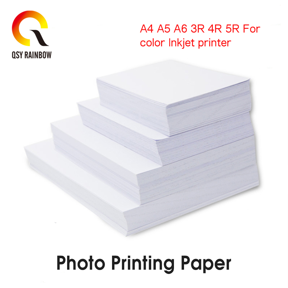 CMYK 3R 4R 5R Photo Paper Glossy Printer Photographic Paper High-gloss Paper For Inkjet Printer Office Supplies 100 Sheets / PK