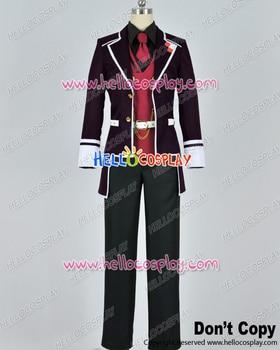 Diabolik Lovers Cosplay Reiji Sakamaki Purple Uniform CostumeH008