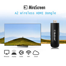 Купить с кэшбэком Mirascreen A2TV Stick Anycast Wireless 1080P HDMI WiFi Receiver Dongle 2.4G Mini Android TV For Phone ipad IOS Android Miracast