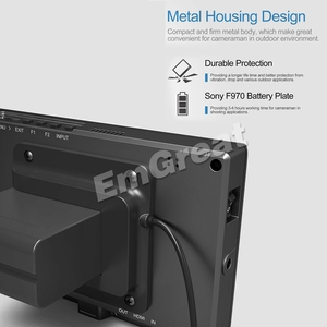 Image 5 - شاشة عرض فيديو كاملة عالية الوضوح مقاس 7 بوصات 1920 × 1200 4K HDMI 3G SDI في/خارج ث/بطارية على كاميرا مراقبة حقل الفيديو لسوني PXW FS7 EVA1 Gimbal