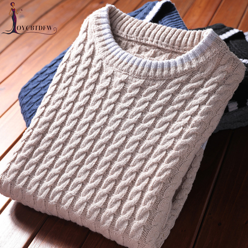 Men Sweater Pullover 2018 Autumn New Round Neck Sweater Korean Casual Loose Sports Pullover Tops Large size Men Warm Sweater 578