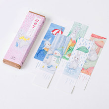 30 pcs/box daydreaming cartoon paper bookmarks kawaii children stationery office school supplie papelaria kids gifts