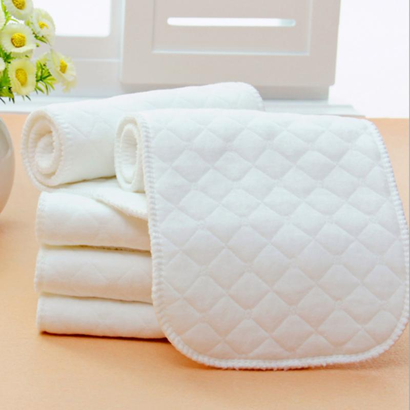10Pcs Reusable Washable Inserts Boosters Liners Real Pocket Cloth Nappy Diaper Cover Wrap Microfibre Bamboo Charcoal Insert #20