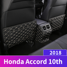Car Seat Covers Protectors Care Seat Back Anti-kick Pad Case for children Kick Mats For Honda Accord 10th 2018 2019 Accessories lunda car storage bags back seat car seat covers seat back protector for children kick mats holder ipid travel organizer