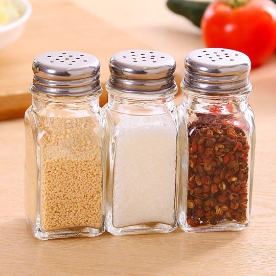 new mini clear glass salt and pepper shaker 100ml spicesalt and pepper cellar bottle kitchen. Black Bedroom Furniture Sets. Home Design Ideas
