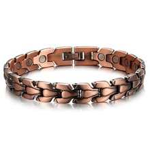 Top Quality Healing Men Copper Magnetic Bio Energy Bracelets & Bangles Health Female Jewelry Red Copper Wristbands