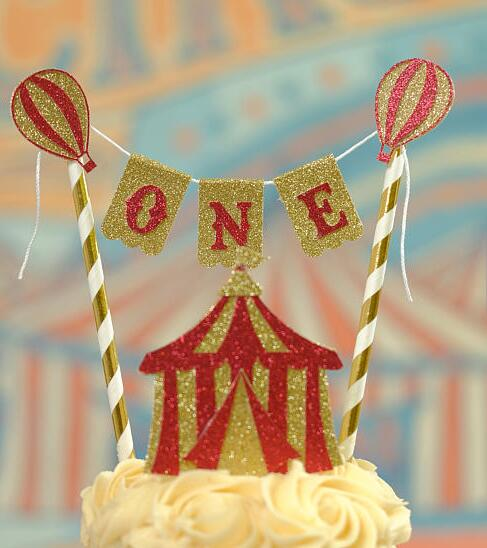 Peachy Personalized Vintage Circus Birthday Cake Buntings Cupcake Toppers Personalised Birthday Cards Veneteletsinfo
