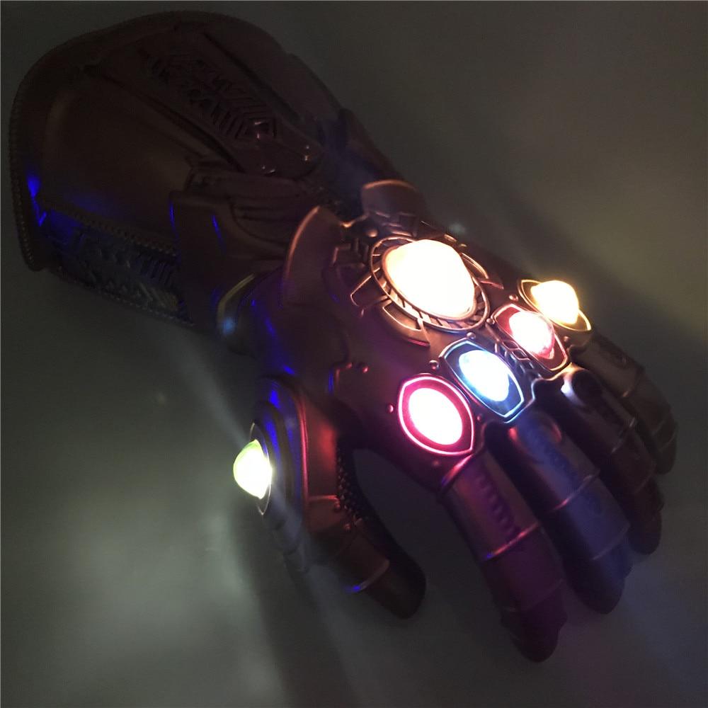 Guanti Infinity War Infinity Gauntlet LED Light Thanos Guanti Puntelli Cosplay