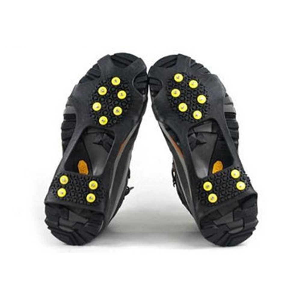 10 adet Krampon Sivri Sihirli Başak Ayakkabı Anti Kayma Buz Tutucu Yürüyüş Buz Kar Dağcılık Tırmanma Kış #19