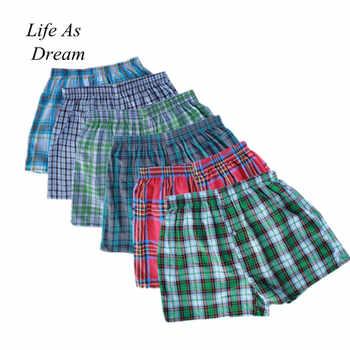 M-4XL Classic Plaid Men Boxer Shorts Mens Underwear Trunks Cotton Cuecas Underwear boxers for male Arrow Panties 4PCS/lot - DISCOUNT ITEM  43 OFF Underwear & Sleepwears