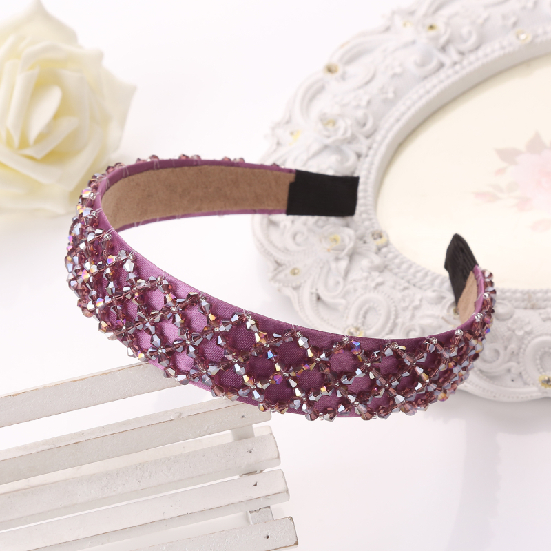 Bohemia Style Beading Hairbands OL Luxury Crystal Headbands Bridal Wedding Hair Accessory Luxury Headwear 5Colors women girl bohemia bridal camellias hairband combs barrette wedding decoration hair accessories beach headwear