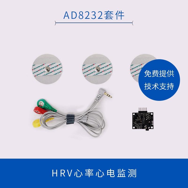 AD8232 ECG Sensore di Segnale Bioelettrica Raccolta e Kit di Sviluppo HRV Sano Misura Monitoraggio della Frequenza CardiacaAD8232 ECG Sensore di Segnale Bioelettrica Raccolta e Kit di Sviluppo HRV Sano Misura Monitoraggio della Frequenza Cardiaca