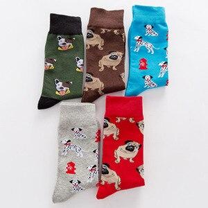 Носки женские и женские, забавные носки для собак, домашних животных, мопса, Шиба ину, Бигле, Buldog
