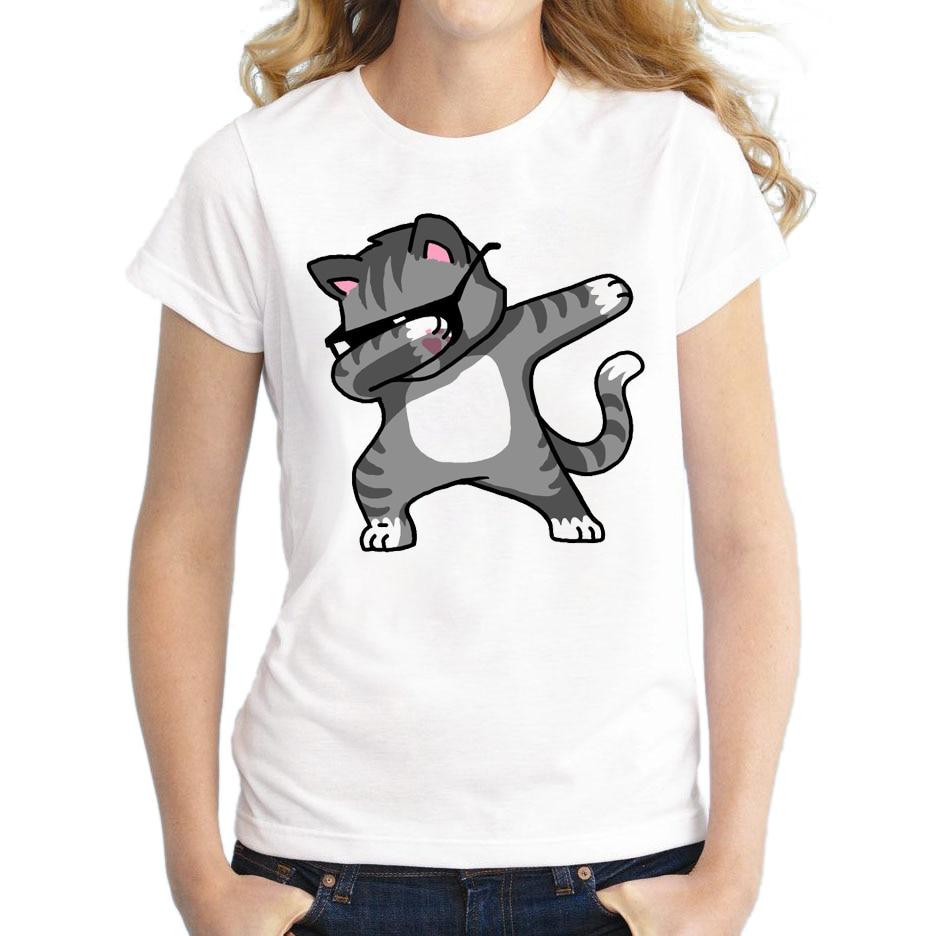 HTB1m5F0RXXXXXaVXXXXq6xXFXXXk - Dabbing Unicorn Women T Shirt Short Sleeve O-Neck