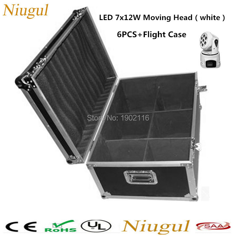 6 pieces/lot with a flight case White mobile head led wash 7x12w rgbw moving head light/dj equipments powerful mini moving light 4pcs lot with flight casflightcase led wash mini moving head light 7x12w rgbw 4in1 led dmx controller dj disco light