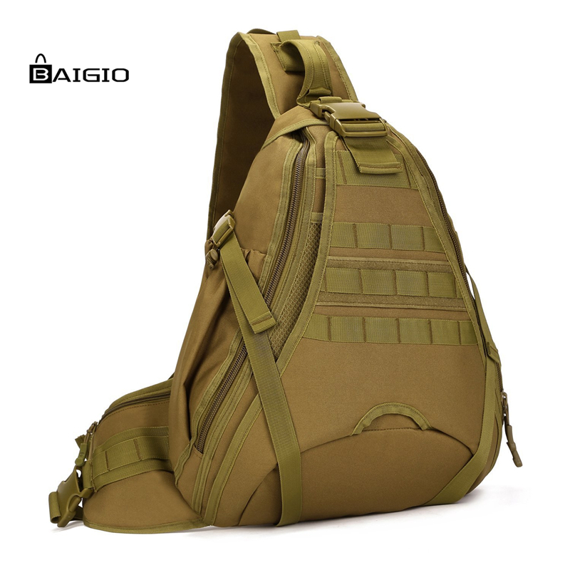 Baigio New Travel Bag Military Sling Chest Pack Bag Molleac Large Men Shoulder Bags Crossbody Duty Gear Male Travel BagsTrekking 2017 new men canvas chest bag pack casual crossbody sling messenger bags vintage male travel shoulder bag bolsas tranvel borse