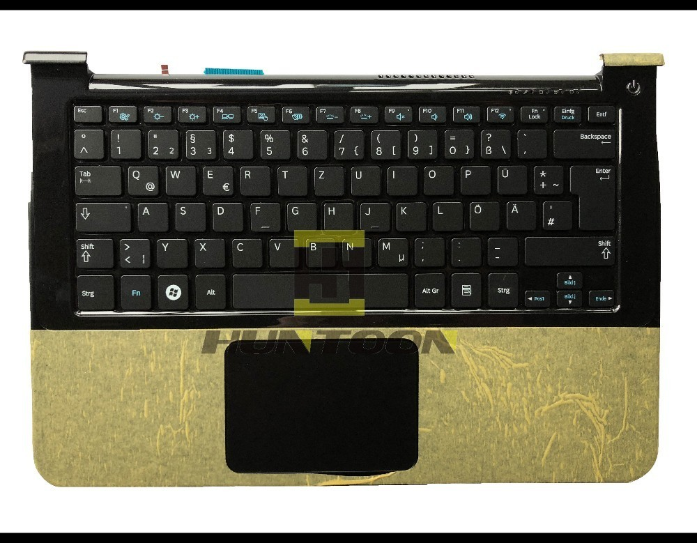 Genuine GR/German Keyboard for Samsung NP900X3A 900X3A laptop Keyboard GR Layout BA75-02899C Black color with touchpad palmrest laptop keyboard for gateway id57 silver gr germany with frame v121702dk1 gr pk130im1a09 118a30295