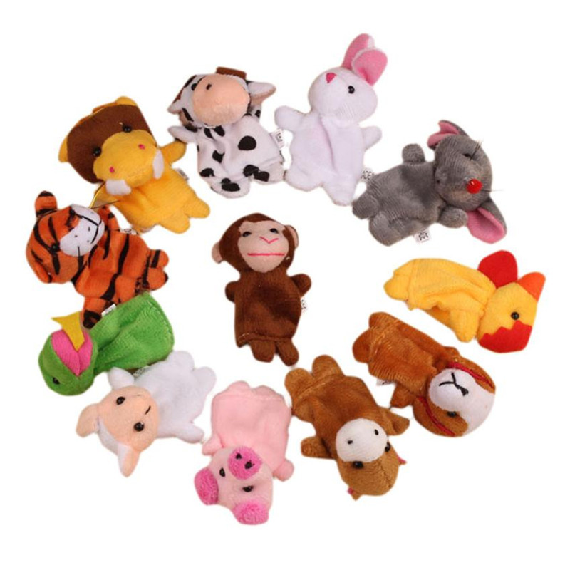 12Pcs Chinese Zodiac Soft Animal Puppet Finger Toys PLush Toys Stress Relief Toy Funny Kids Gift 20