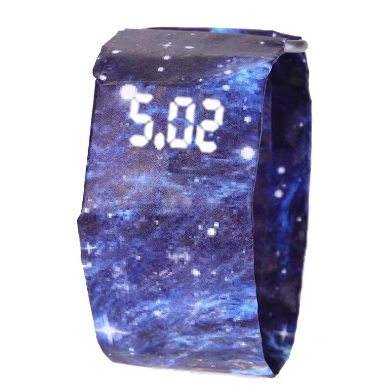Neue Mode Kreative Papier Digitale Uhr Männer Armbanduhr Wasserdichte Elektronische Uhren GefÜhrte Uhr Der Männer Uhr Reloj Hombre 2018 Ausreichende Versorgung Uhren Digitale Uhren