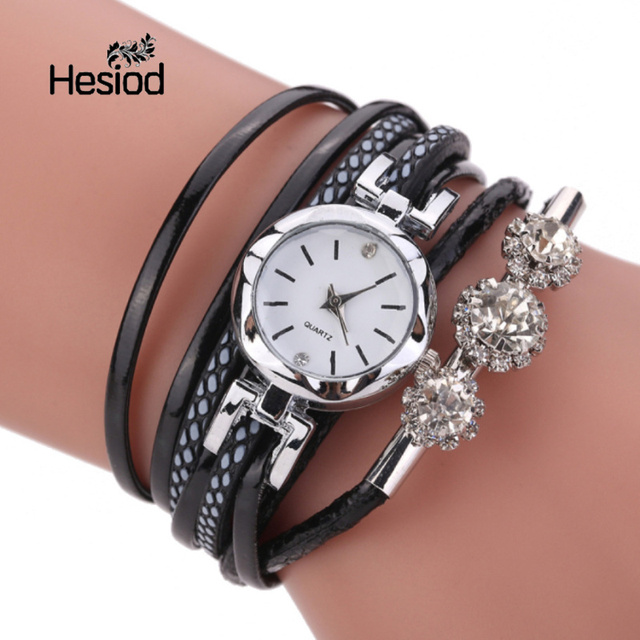 Hesiod Bracelet Watches For Women Silver Crystal Lady Dress Casual Clock Quartz