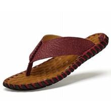 New 2018 Summer Men Flip Flops High quality Soft Massage Casual Sapatos masculino Handmade Sewing Beach