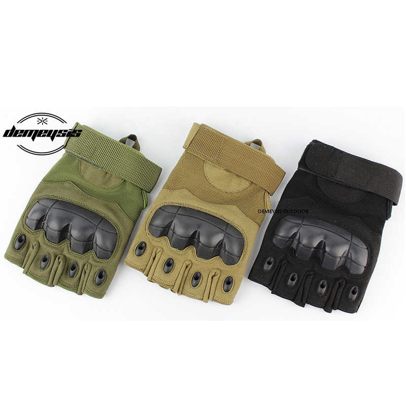 Half Finger Outdoor Tactical Gloves Army Military Gloves  Bicycle Airsoft Hiking Climbing Non-slip  Shooting Paintball Gloves