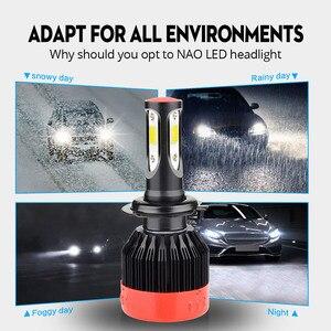 Image 3 - NAO H7 LED H4 H11 Nebel Licht HB4 HB3 3 Seite Auto Scheinwerfer Birne H1 H27 880 881 12V weiß 9006 H8 9004 Für Lada vesta Auto Lampe 72W