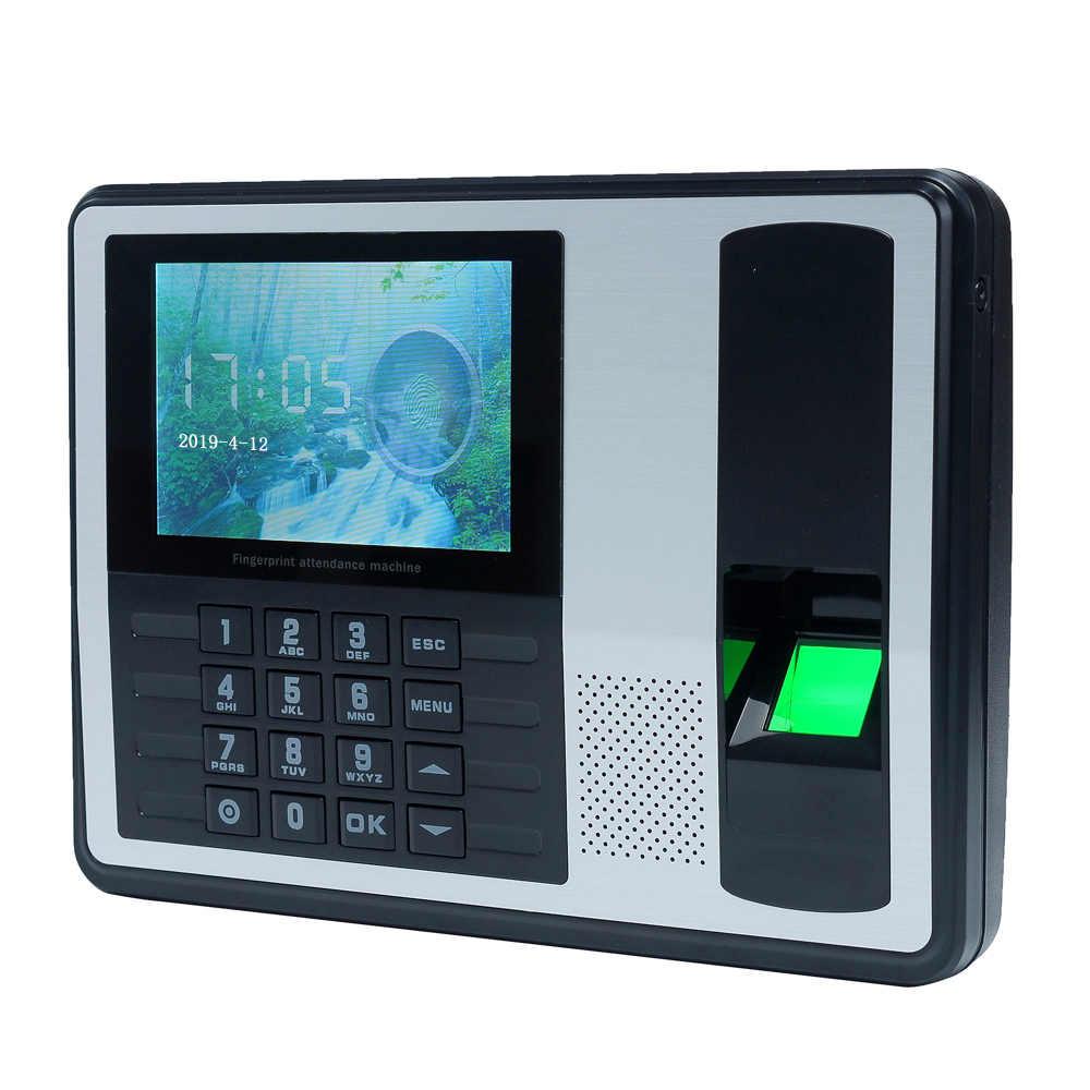 Biometryczny czytnik linii papilarnych hasło maszyna obsługująca monitorująca rejestrator 4 cal ekran TFT LCD DC 5 V