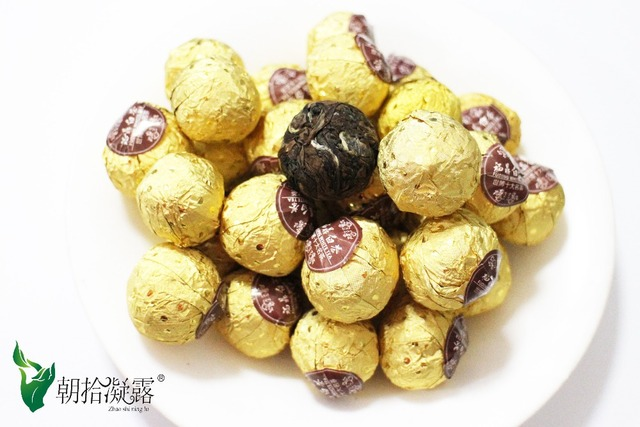 40pcs of cooked white tea balls, Chinese selected old white tea model, compressed tea