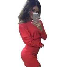 Colorful Apparel Bat sleeve Slim Tight Bodycon/Bandage Dress For Women 2016 Dresses Sexy Winter Women's Tight Mini Dress CA777