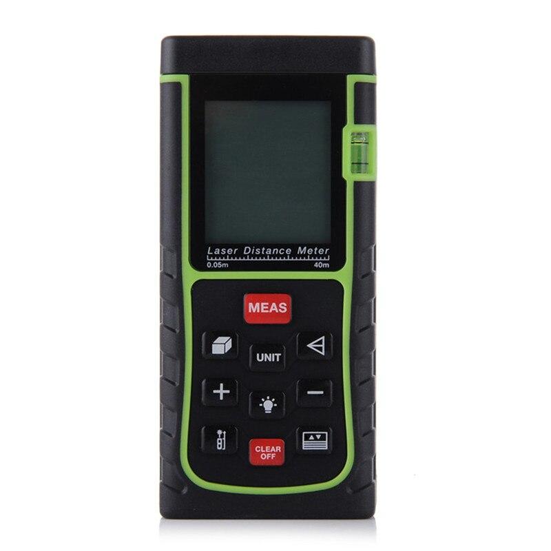 Handheld Rangefinder Laser Distance Meter Digital Laser Level Range Finder Laser Tape Measure 40M Area/Volume/Angle Tester Tool