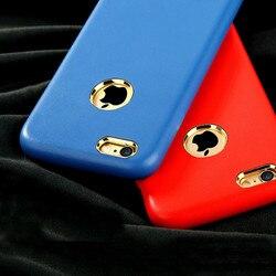 Étui en cuir PU de luxe pour Apple iphone 7 6 6 S PLUS 5 5 S SE Coque de protection mince pour iphone 6 S trou de LOGO en métal
